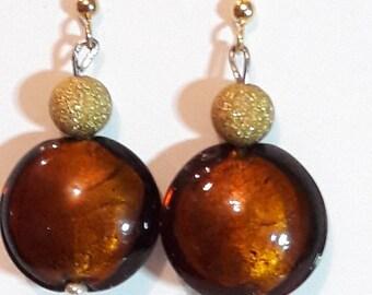lampwork glass earrings