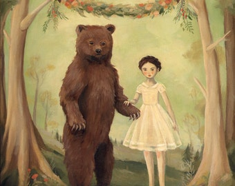 In the Spring, She Married a Bear / Print 8x10 by Emily Winfield Martin