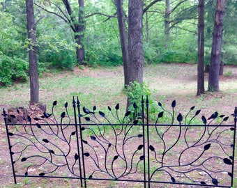 Iron Twig Fence 3- sections 7' wide