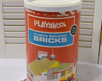 Vintage Playskool Building Bricks Container Only Kids Room Playroom Home Decor PanchosPorch
