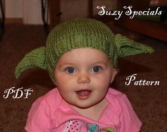Yoda hat pattern etsy pattern knitted yoda hat pdf pattern printable pattern downloadable dt1010fo