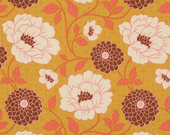 54016 Joel Dewberry Bungalow Dahlia in Maize  color fabric - 1 /2 yard