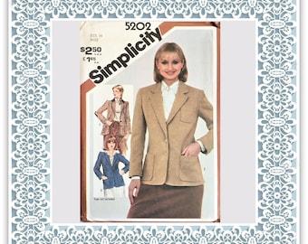 Simplicity 5202 (1981) Misses' lined blazer - Vintage Uncut Sewing Pattern