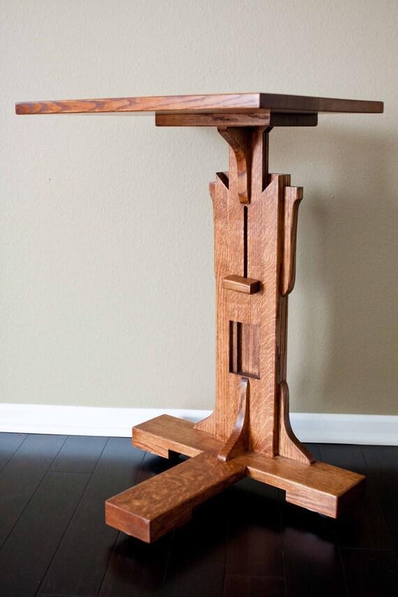 Computer Table Mission-Style Wood Adjustable