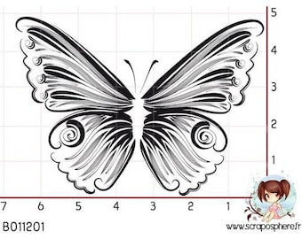 Has SCR149 scraposphere rubber stamp mount Butterfly