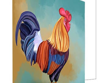 Rooster Set of 10 Greeting Cards