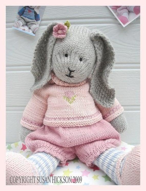 Bunny Knitting Pattern Toy Knitting Pattern Primrose Rabbit