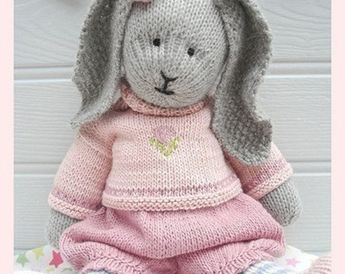 Bunny Knitting Pattern/ Toy Knitting Pattern/ PRIMROSE Rabbit/ Plus Free 'Handmade Shoes' Knitting Pattern/ INSTANT Download