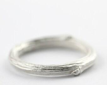 Mens ring, twig ring, mens wedding band