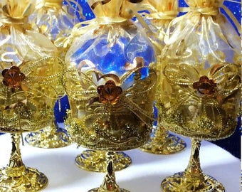 12 Royal Prince Baby Shower Favor Cups - Perfect For Boys Royal Blue and Gold Baby Shower Theme and Prince Decorations