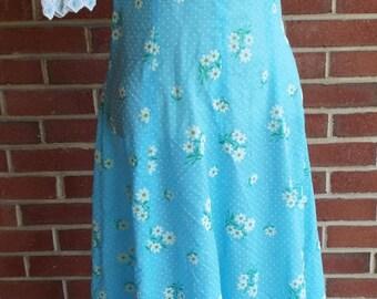 Vintage Short Sleeve Floral Dress