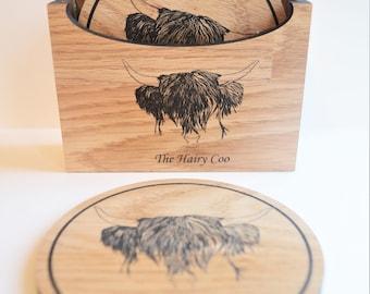 Highland Coo Coaster Box Set The Hairy Coo Scotland