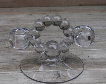 Imperial Candlewick Candle Holder Double Light
