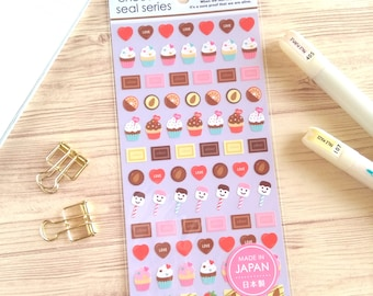 """mini sticker,japanese sticker""""chocolate sweets"""" for journal,scrapbooking,planner"""