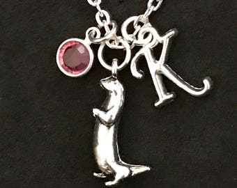 Personalized Otter Necklace Otter Jewelry
