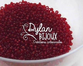 10 gr 'Burgundy' dark red transparent seed 2.3 mm 10/0 Preciosa Ornela beads