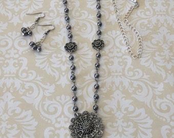Vintage Style Necklace, B'sue by 1928, Handmade Jewelry, Date Night, Classy Jewelry