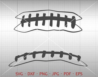 Football Stitches SVG, Football Lace SVG, Football Clipart DXF Silhouette Cricut Cut File Vector Commercial Use