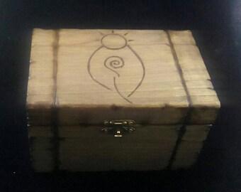Goddess Box Tarot Card Box Wooden Keepsake Box The Reading Room & Art Studio Wendy Kennedy