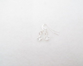Earrings Swarovski Earrings April Birthstone Earrings Crystal Earrings Communion Sterling Silver Minimalist Birthday Gift Kids Jewelry