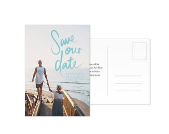 Photo Save the Date Template Postcard Digital Download Card