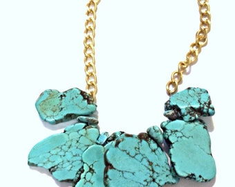 Large Turquoise Statement Necklace