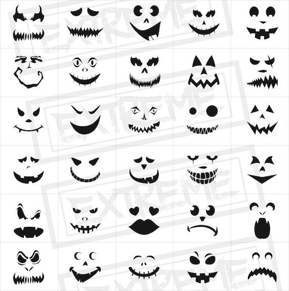 Ungewöhnlich Halloween Gesichter Vorlage Fotos - Entry Level Resume ...