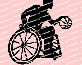 Wheelchair Basketball  Decal disability sticker car truck disabled adaptive sports handicap parking rehab nba IWBF Paralympics