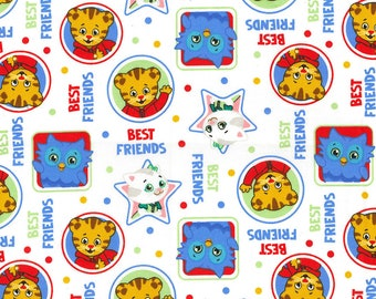 Daniel Tiger and Friends on White Crib/Toddler Bedding Items ~Custom Made~