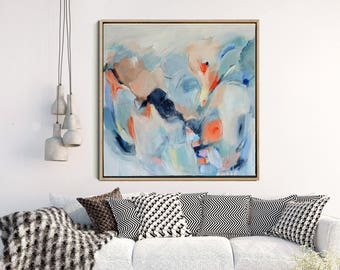 Moden Abstract Art Print, Abstract Giclee Print, Abstract Print Blue, Modern Art Abstract, Contemporary Wall Art, Abstract Expressionist Art