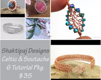 Soutache and Celtic Braid 6 Tutorials  Package - 50% Savings