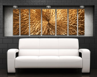 Large Metal Wall Art Sculpture Metal Art Panels Contemporary Artwork  Cosmic Energy  Copper by Brian M Jones Modern Art Painting Decor : large metal wall art - www.pureclipart.com