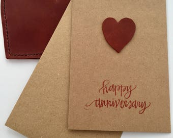 Leather anniversary etsy