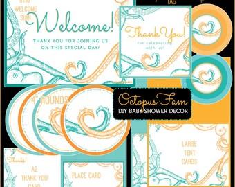 OCTOPUS FAM // Gender Neutral Baby Shower DIY Kit