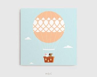 Darby + Dot™ - Hot Air Balloon Adventure - Canvas Art Print
