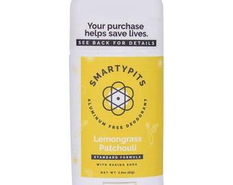 Deodorant: Natural, Prebiotic-Infused, and Aluminum-Free [LEMONGRASS PATCHOULI SCENT]