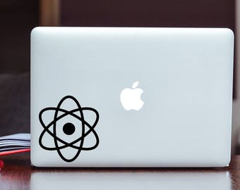 Atomic Symbol - Science - Vinyl Decal/Sticker Choose Size and Color