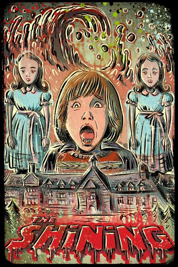 The Shining art print joe badon stanley kubrick movie film