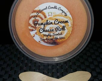 Pumpkin Cream Cheese Roll 7 oz. Highly Scented Soy Scoop-able Wax