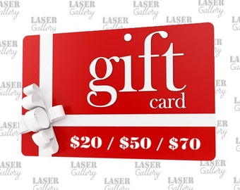 GIFT Certificate 20 30 50 CAD Shop Gift - Buy Gift Certificate - Last Minute Birthday Gift - Laser Gallery Prepaid Gift Certificate
