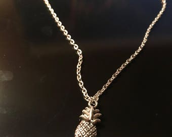 Silver Necklace with Pineapple Pendant Charm