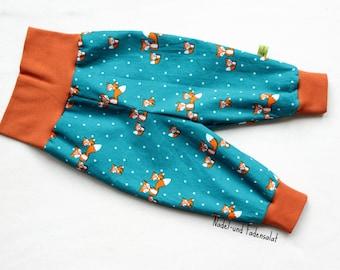 Baby Harem Pants, gender neutral Baby Pants, Corduroy Baby Pants, Corduroy Pants, Fox Clothes Baby, Baby Boy Clothes, Baby Girl Clothes