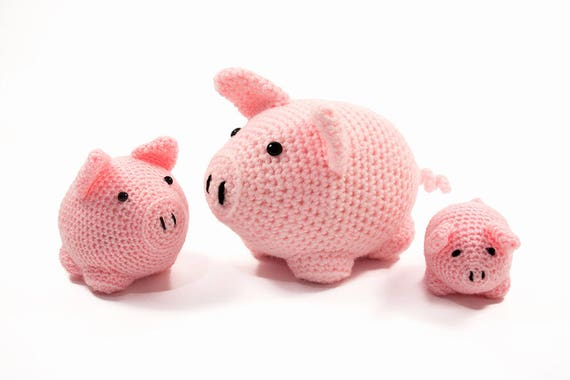 Amigurumi Guinea Pig : Crochet pattern pig pals amigurumi three pigs stuffed animals
