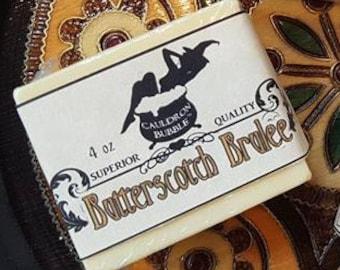 Butterscotch Brulee - 4oz Vegan Glycerin Shea Butter Soap - Love Potion Magickal Perfumerie