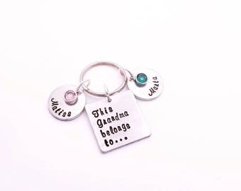 Birthstone gift for Grandma - Mothers day gift with grandkids names - Gift from grandkids - Mothers day gifts for grandmother - Mom gift