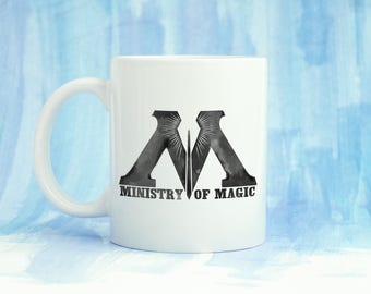 Ministry of Magic Coffee Mug 11oz 15oz  Gift for Her Him Dad Mom Wizard Witch Harry Potter Weasley Geeky Gift Present Work Hermione Moody