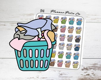 Cleaning Planner Stickers // Laundry // Housework // Chores // Mini Stickers  // 041