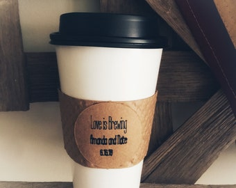 Love is Brewing favor tag, brunch, coffee cup