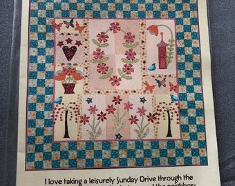 "A Sunday Drive Quilt Kit & Pattern 66"" square (168cm square)"