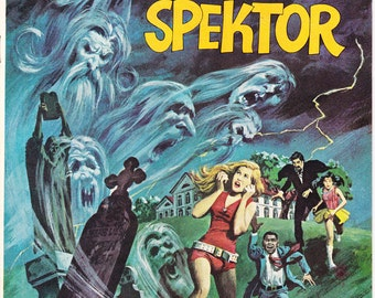 The Occult Files of Doctor Spektor 4, Seance, Ghost, Horror Comic, Monster book, Scary Halloween art. 1973 Gold Key in NM/MT (9.8)